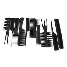 10Pcs Pro Salon Hair Styling Hairdressing Barber Combs Set Home Barbershop Tool