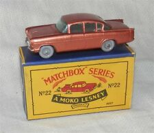 60s.Matchbox Lesney 22,Vauxhall Cresta.Grey plastic wheels.Mint in box.Original