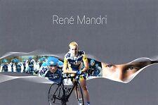 CYCLISME  carte cycliste RENE MANDRI équipe AG2R 2007