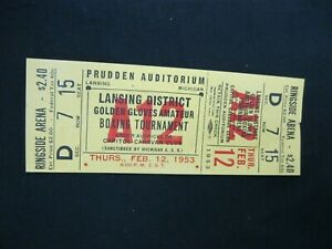 Vintage RARE 1953 Golden Gloves Amateur BOXING Tournament Ticket Lansing MI  40
