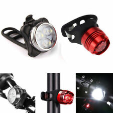 USB Rechargeable LED Bicycle Bike Cycling Head Front Lamp & Tail Light Set