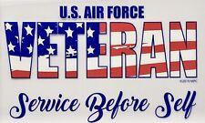 Air Force Veteran - Service Before Self Decal