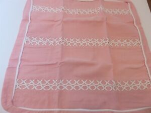 Tommy Hilfiger Florabundance Pink Circle Embroidery Euro Sham NIP