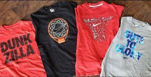 Lot of 4 Boy's Nike Cotton Basketball T Size Medium 10-12 free ship!