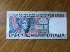 REPUBBLICA ITALIANA BANCONOTA LIRE 50000 VOLTO DI DONNA 11 4 1980