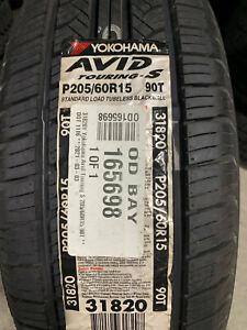 1 New 205 60 15 Yokohama Avid Touring-S Tire