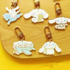 Pack of 5 Cute Cinnamoroll Acrylic Keychain Key Ring Keyring Party Keychain Gift