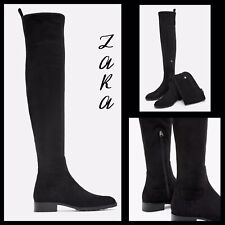 Zara Women Flat over-the-knee boots NWT Size 6.5 US 37 EUR REF - 6060/301/040