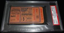 1949 WORLD SERIES GAME 5 TICKET NY YANKEES CLINCH 12th WS TITLE 1st w/LIGHTS PSA