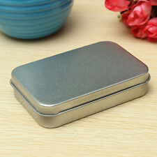 Silver Tin Metal Storage Box Case Organizer For Coin Candy Key Jewelry SH
