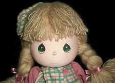 AH Precious Moments Musical Doll With Stand Let It Snow Tune Christmas 1988 Kid