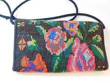 Tapestry Floral pattern Cotton Cardholder Wallet on String Crossbody Bag