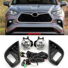 Bumper halogen Fog Light For Toyota Highlander 2020-2021 with Wiring & Switch