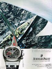 Publicité advertising 2002 La Montre Chronographe Royal Oak Audemars Piguet