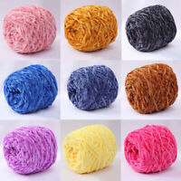 Yarn Chunky Crochet Chenille Velvet Knitting Wool Hat Sweater Scarf DIY Solid