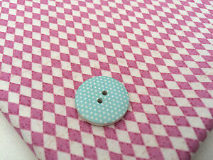 Harlequin Sugar Pink & Cream Diamonds 100% Cotton Fabric Material Baby Nursery