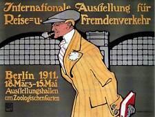 EXHIBITION TRAVEL INTERNATIONAL BERLIN GERMANY VINTAGE POSTER ART PRINT 860PY
