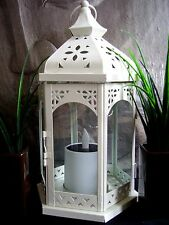 Outdoor Solar Powered Lantern Hanging Lamp NEW LED Candle Light Garden Table