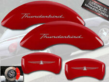 """2002-2005 Ford """"Thunderbird"""" Front + Rear Red MGP Brake Disc Caliper Covers"""