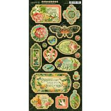 "Graphic 45 6""x12"" Chipboard Die-Cuts Sheet - Lost In Paradise G4501895"