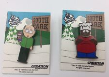 South Park Enamel Pins Mr Garrison with Mr Hat & the Chef on Card Comedy Central