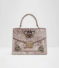 7b9bd4e09da ALDO DUROSTY Pink Crushed Velvet Handbag Women's Purse Top Handle Shoulder  Bag
