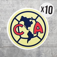 (10) Club America Mexico Vinyl Sticker Decal Calcomania Color Aguilas Liga MX
