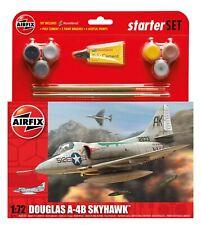 AIRFIX 1:72 DOUGLAS A-4B SKYHAWK MODEL AIRCRAFT KIT MEDIUM STARTER SET A55203