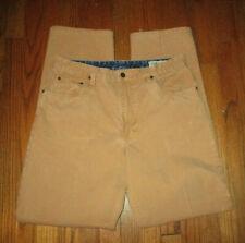 ORVIS Gold Color Thick Cotton Canvas Outdoor Pants Sz 34x33