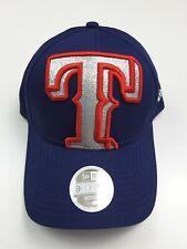 9819a6d0d1ff2 New Era 9Forty Women s Texas Rangers MLB Glitter Glam Adjustable Hat Cap OS
