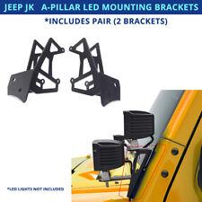 Pair - Jeep Wrangler JK JKU A-Pillar Mounting Brackets For LED Cube Pods