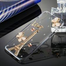 Für iPhone X Strass Paris Eiffelturm Love Schutzhülle Bling Glitzer Hülle Case