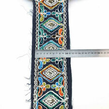 Vintage Ethnic Sequin Ribbon Trim Embroidered Clothes Shoes Decorative Craft