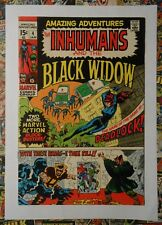 AMAZING ADVENTURES #4 - JAN 1971 - INHUMANS AND THE BLACK WIDOW - VFN- (7.5)
