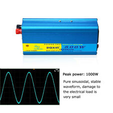 500W Peak 1000W Pure Sine Wave Inverter DC 12V to AC 110V Electronics Adapter