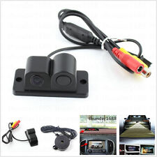 Car Parking Reversing Radar Sensor Rear View Backup 120° Camera Night Vision 12V