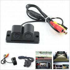 New Radar Sensor 120° Wide Angle Automobile Reversing Backup Parking Camera Kit