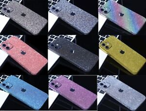 Full Body Glitter Bling Phone Sticker Decals For iPhone 12Pro Max 11 6 7 8 XS XR