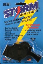 Storm Whistle loudest whistle in world Black Safety Boating SCUBA