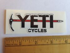 "3.75"" Yeti Cycles Frozen Pick Axe Mtb Bicycles Bike Frame - Sticker Decal"