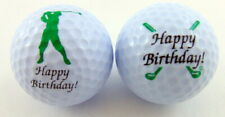 Happy Birthday Golf Ball Set with Two Different Balls in a Display Pack