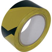 NEW Hazard Tape 50mm x 33m Yellow & Black Each