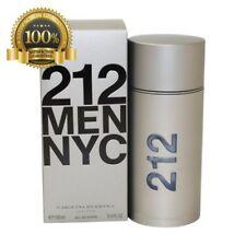 New Original 212 Carolina Herrera For Men Eau De Toilette Spray 3.4 Ounc In Box