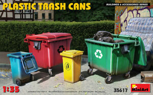 Plastic Trash Cans (Buildings and Accessories) 1/35 MiniArt  35617