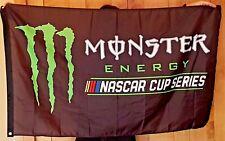 Monster Energy NASCAR Cup Flag Drink Logo Sign Banner Plate Poster Bar Sport