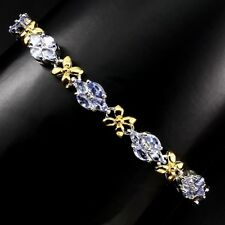 Armband Tansanit 925 Silber 585 Weißgold Gelbgold