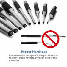Roll Hand Pin Remover Punch Steel Tools Grip Piece Hammer Gun AR15 Set 9 Pc Kit