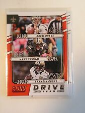 New Orleans Saints Drive Team Brees Ingram Cooks 2017 Score NFL Trading Card