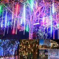 Meteor Shower Falling Rain Drop Icicle LED Fairy String Light Party Xmas Decor