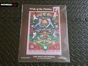 2015 PRIDE OF THE PHILLIES PRINT MURAL HOWARD-MCGRAW SCHMIDT COLLECTOR'S EDITION